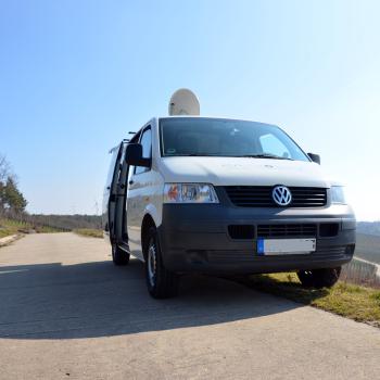 Ü-Wagen mit SAT-Aufbau (Mehr Bilder in der Kategorie Mobiles Internet).